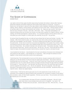 The Shape of Compassion
